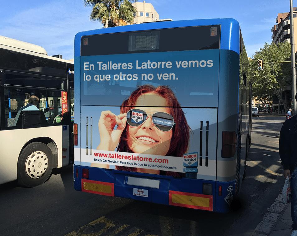 Campaña de publicidad en autobuses EMT para Talleres Latorre
